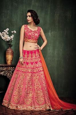 exclusive-bridal-wear-lehenga-choli-in-pink-orange