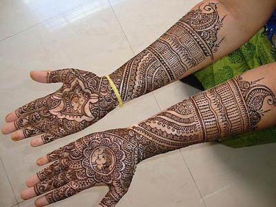 full hand mehndi designs indian