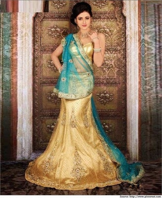 latest bridal lehenga saree fashion