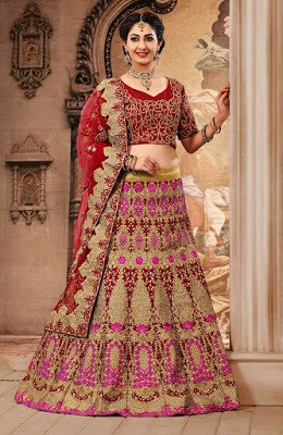 latest bridal lehenga style saree designs