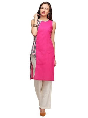 Latest-indian-summer-kurti-designs-with-lace-for-women-6