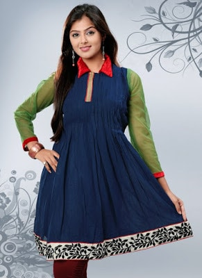 Latest-indian-summer-kurti-designs-with-lace-for-women-5