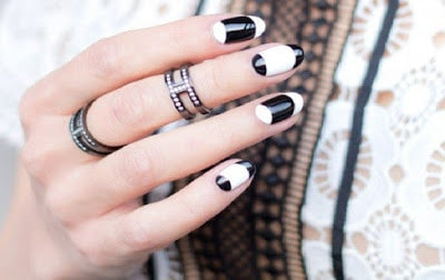 Model-nail-combination-perfect-white-and-black-for-women-elegants