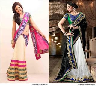 Traditional-indian-bridal-half-saree-designs-for-weddings-1