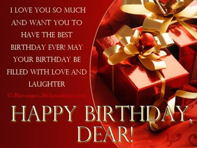 birthday wish for wife on facebook