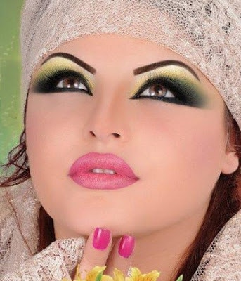 Arabic-bridal-makeup-&-hairstyles-tutorial-step-by-step-8