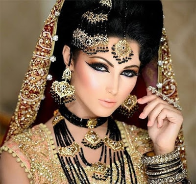 Arabic-bridal-makeup-&-hairstyles-tutorial-step-by-step-2