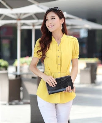Classy-and-stylish-casual-short-sleeve-shirts-for-women-3