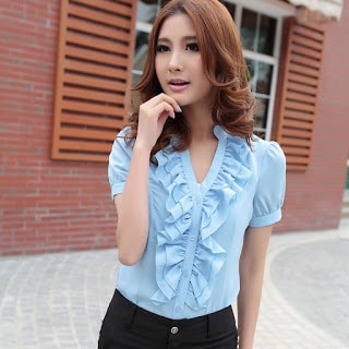 Classy-and-stylish-casual-short-sleeve-shirts-for-women-9