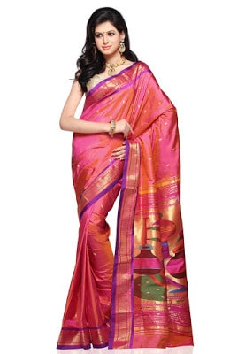 India-paithani-saree-designs-maharashtrian-blouse-patterns-10