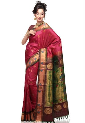 India-paithani-saree-designs-maharashtrian-blouse-patterns-7