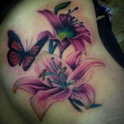 Pretty-Lily-Flower-Tattoo-Designs