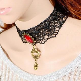 Ruby-Brass-Antique-Brass-Heart-Pendant-Statement-Necklace
