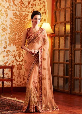 Stylish-indian-embroidered-bridal-saree-2017-for-brides-10