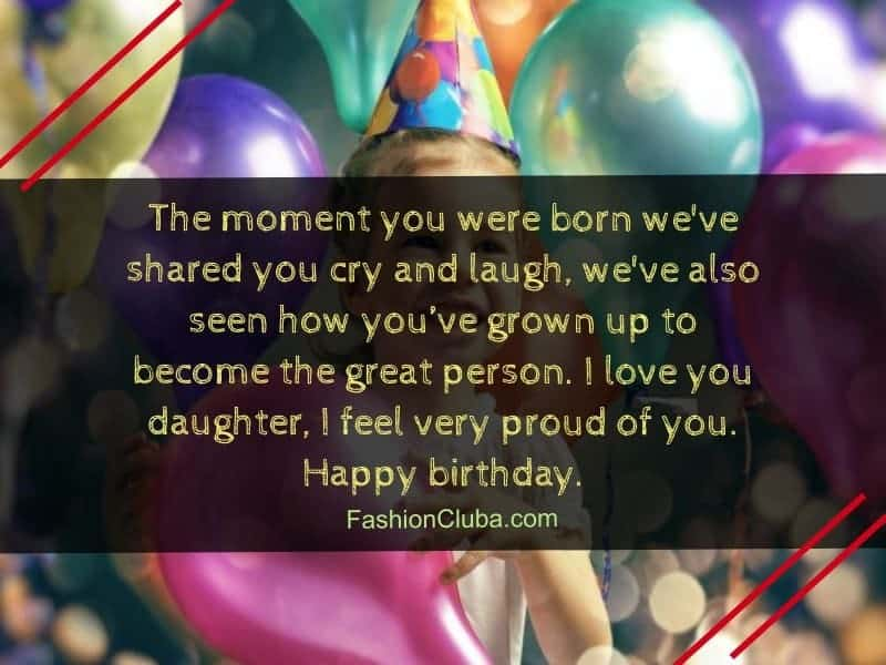 inspirational happy birthday wishes for daughter
