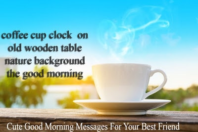 coffee cup clock on old wooden table nature background the good morning