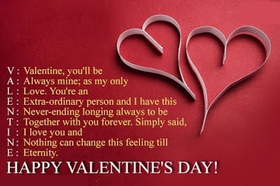 Romantic Valentines Day Love Quotes Messages For Girlfriend And Wife