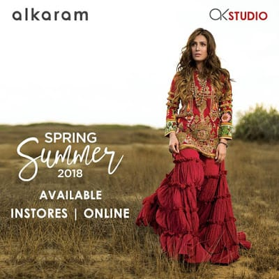 alkaram spring summer embroidered collection for 2018