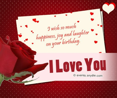 15 Sweet Romantic Love Birthday Messages For Him With Love