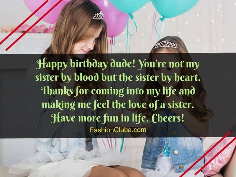 lovely wishes about birthday of sister
