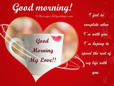 Romantic Good Morning Love Messages For Girlfriend / Wife (5)