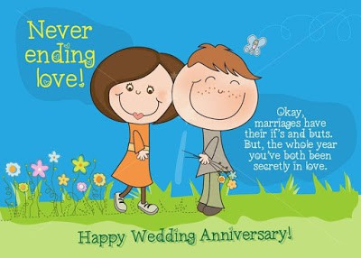 Funny wedding anniversary wishes for couples