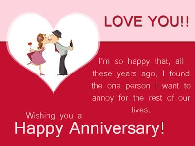 Funny Wedding Anniversary Wishes for Husband From Wife ...