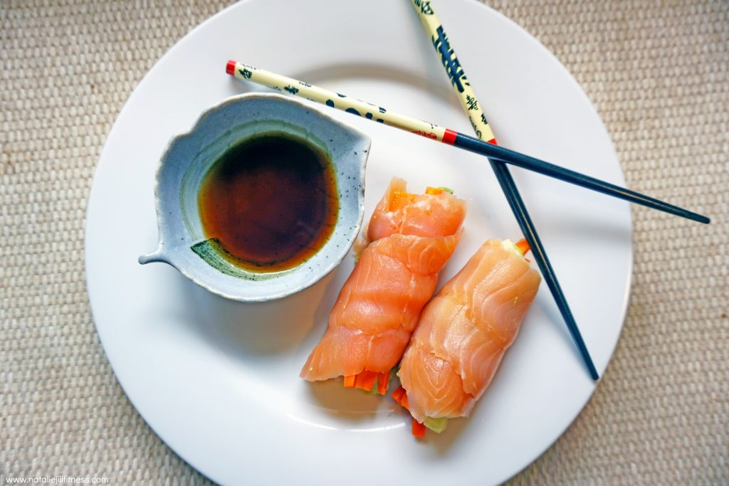 Grain Free Salmon Sushi Rolls