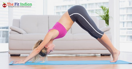 Yoga no-equipment workout.