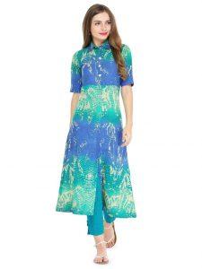 Front slit shirt style kurti