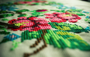 Cross-stitch embroidery