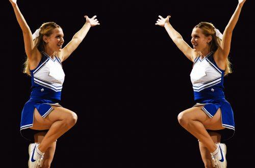 Two cheerleaders